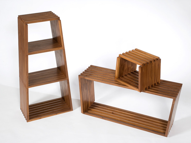 S_3.0 by Curious  Tales - Mulitfunctional, Walnut, Shelving, Seating, Solid Timber
