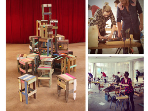 Neighbourhood Sweatshop by A Good Looking Man  - Workshop, Educational, Learning, Stool, Reclaimed, Furniture