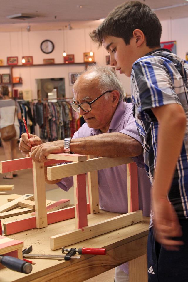 Neighbourhood Sweatshop by A Good Looking Man  - Workshop, Educational, Learning, Stool, Reclaimed, Furniture