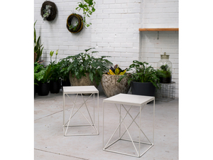 Picnic Stool (indoors/outdoors) by Redfox & Wilcox - Stool, Side Table, Metal, Outdoors