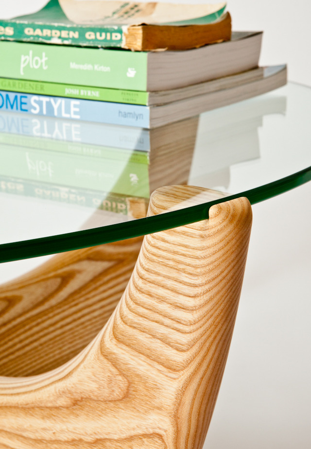 American ash coffee table by Peter Walker - Ash Coffee Table, Round Coffee Table, Glass Coffee Table