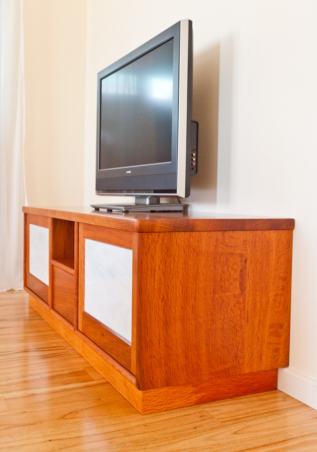 Sheoak home theatre cabinet by Peter Walker | Handkrafted