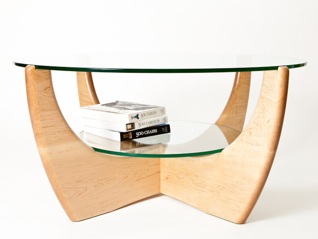 Maple coffee table 2 tier by Peter WalkerHandkrafted
