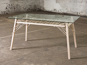 Table by Alex Fossilo - Table, Glass, Timber