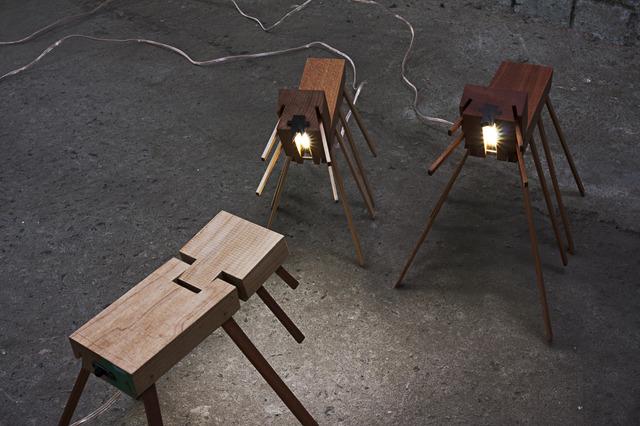 Adjustable Desk Light by Alex Fossilo - Desk Light, Bed Light, Timber