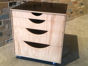 Commons Drawers by Weld + Fathom - Plywood, Drawers, Bedroom, Office
