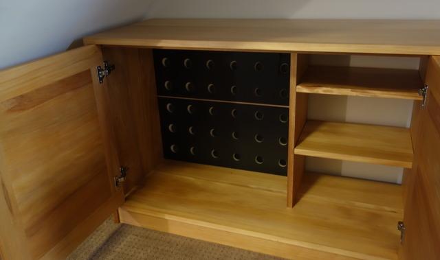 Alison's Kauri pine under stair's Entertainment unit by Nathaniel Grey - Kauri Pine, Entertainment Unit, Wine Storage, Bookcase