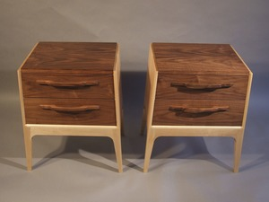 Bedside table commission  by Sam  James  - Bedside Table, Walnut, Maple, SJD Furniture
