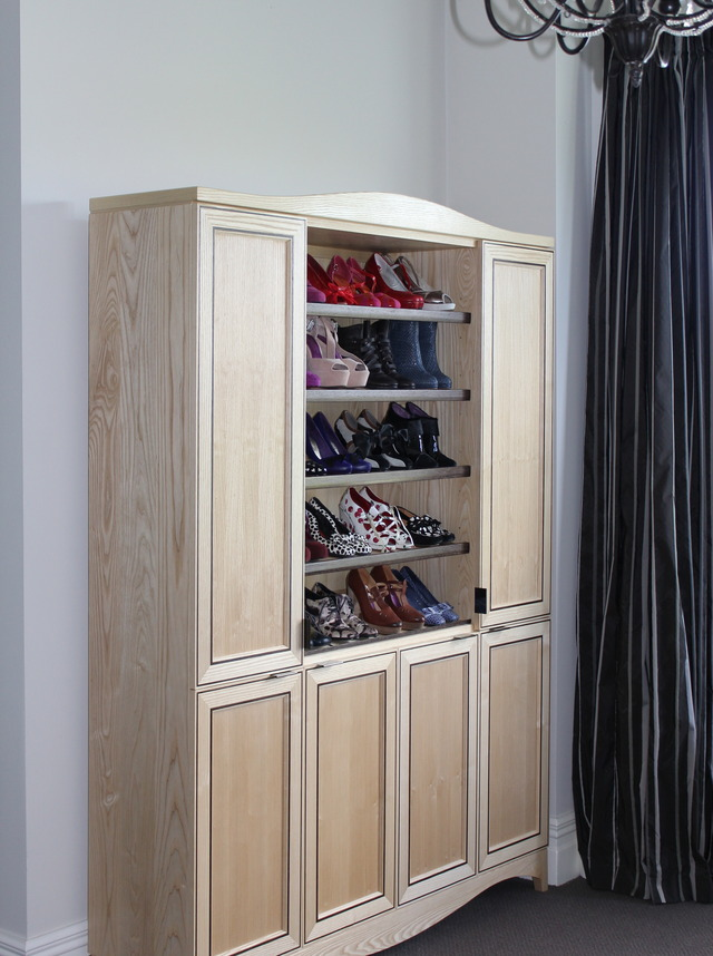Shoe Wardrobe  by Sam  James  - American White Ash, Shoe Storage, SJD Furniture