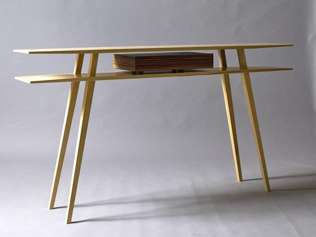 Side Table  by Sam  James  - American White Ash, Zebra Wood, SJD Furniture