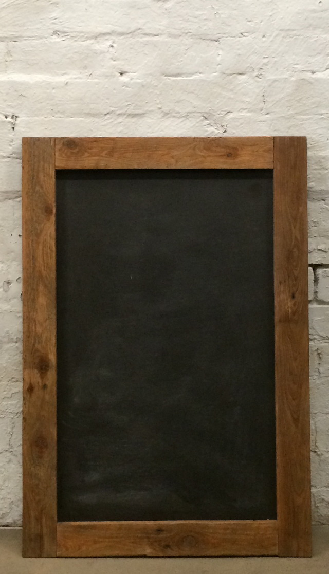 Recycled Chalkboard by Natasha Dickins - Chalkboard, Blackboard, Sign, Signage, Recycled Timber, Menu Board, Reclaimed Timber, Vintage School, Kitchen Design, Reclaimed Fencing