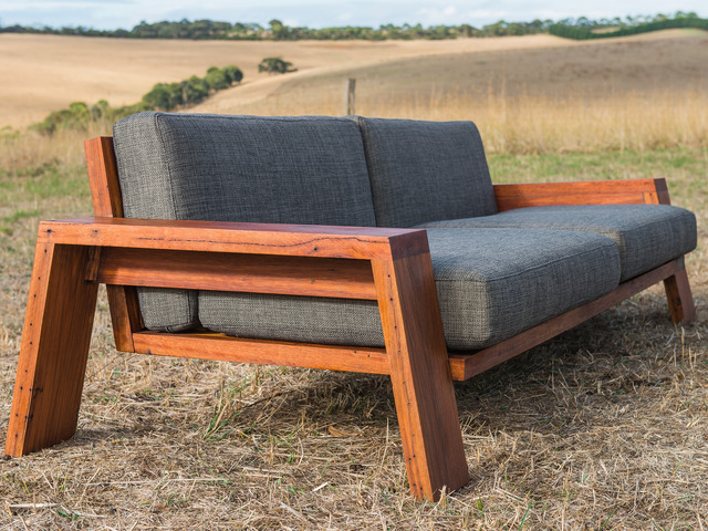 Queenscliff Exposed Timber Frame Couch By Bombora Custom Furniture