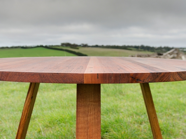Bird Rock Round Dining Table by Bombora Custom Furniture - Messmate, Recycled Timber, Round Dining Table, Custom Dining Table, Torquay, Geelong, Melbourne Dining Table, Torquay Dining Table, Geelong Dining Table