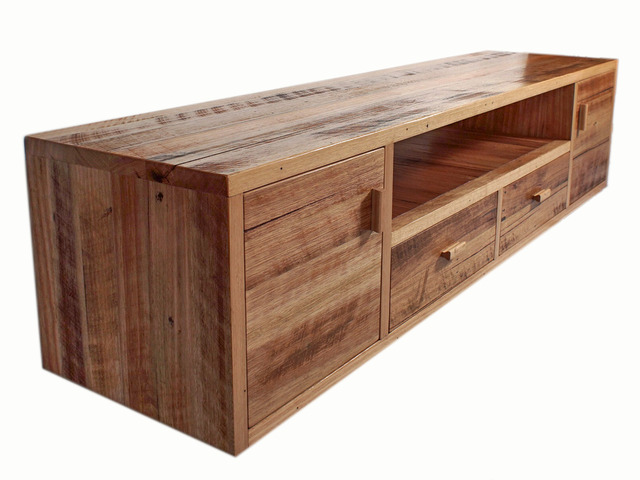 Entertainment Console by GLENCROSS FURNITURE - Entertaiment Console, Custom Made, Cabinet, Recycled Timber, Made To Order, Rustic, Entertainment Unit, Melbourne