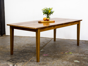 The 'Old Stud' Dining Table by GLENCROSS FURNITURE - Dining Table, Made To Order, Custom Made, Recycled Timber, Solid Timber, Table, Traditional, Contemporary, Rustic, Melbourne
