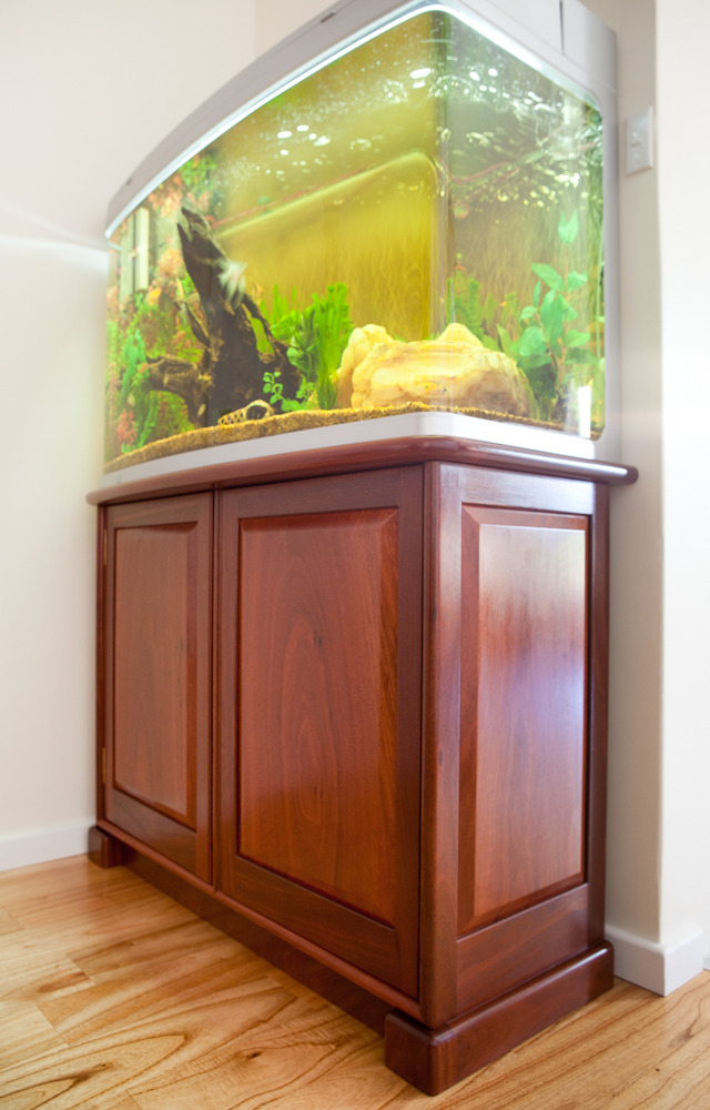 Aquarium Cabinet by Peter Walker - Aquarium Cabinet, Custom Made Cabinet, Jarrah Furniture, Hand Made, Traditional Joinery, Bespoke Cabinet
