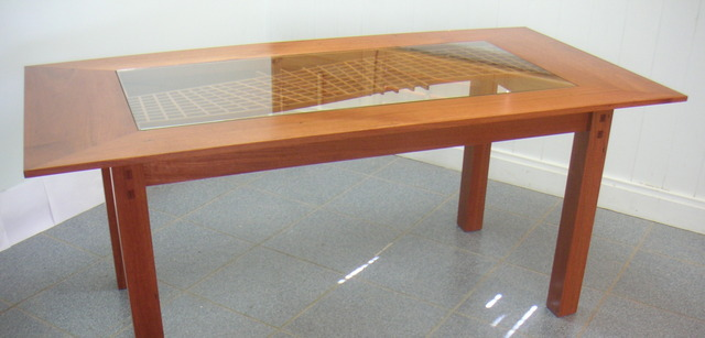 Weave Table by Christopher Lyon - Dining Table, Solid Rosegum, Custom