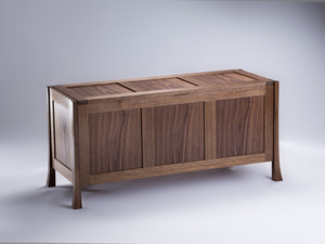 Walnut Blanket Chest by Damion Fauser - Chest, Blanket Chest, Storage