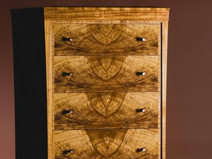 Sylvia Tall Chest in Tasmanian Blackwood by Anthony (Neil) Erasmus - Chest Of Drawers, Figured Wood, Secret Drawers, Collectable Furniture, Collector'S Chest, Investment Furniture, Signature Piece