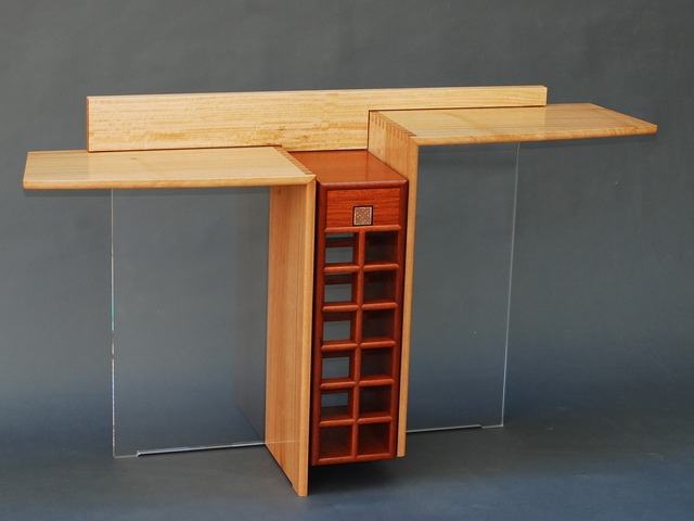 ELL Table by Anthony (Neil) Erasmus - Hall Table, Wine Table, Wall Table, Occasional Table, Wine Rack