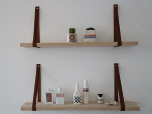 Leather Strap Shelves by James Talty - Strap Shelves