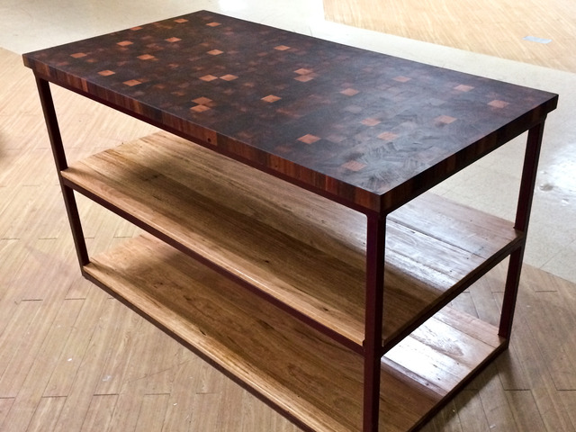 Butchers block by Saltwood Designs - Butchers Block, Kitchen, Jarrah, Table, Recycled