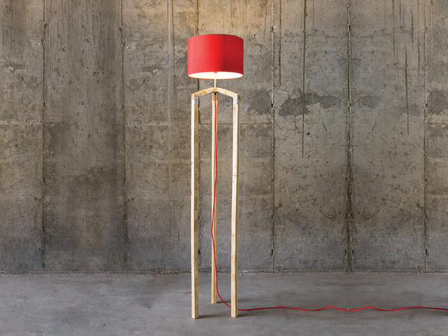 Pallet wood lamp by Saltwood Designs - Lamp, Recycled, Lighting