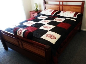 Encounter Bed  by Gus Aquino - HADCRAFTED, BED, FURNITURE, HARDWOOD, JARRAH, VIC ASH, BLACKBUTT, MOUNTAIN ASH, HAND MADE