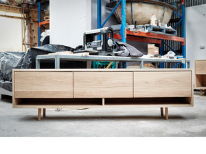 'Nadia' TV Console by Relm Furniture - Oak, Timber, Console