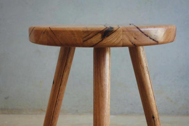 Skinny Love Stool by CHRISTOPHER BLANK - Recycled Hardwood, Stool, Custom, Christopher Blank