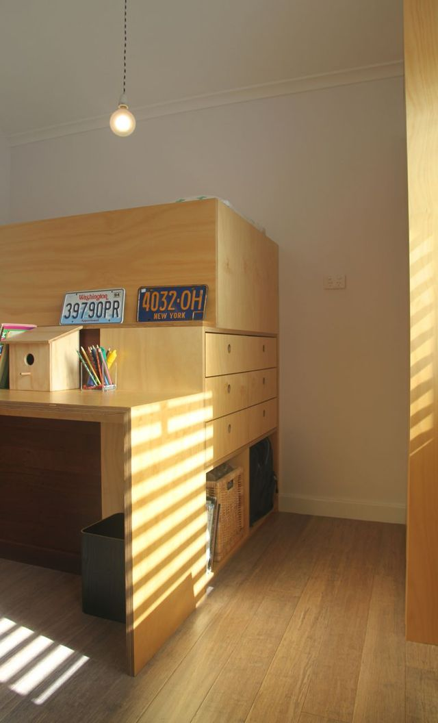 Kids bedroom fit out  by Spencer Parks - Plywood, Danish, Scandinavian, Cabinetry, Kids, Children, Bedroom, Desk, Bunkbed, Windows