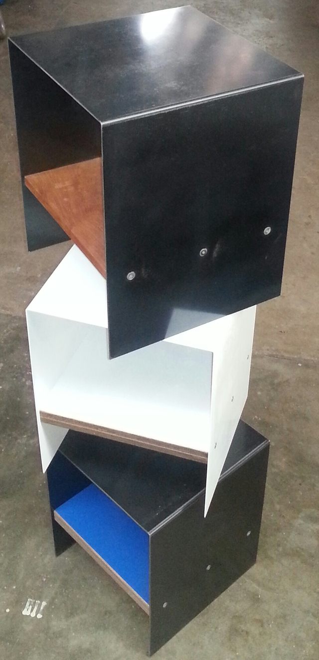 Folded Steel Side table/Stool by Darren Gray - Side Table, Stool