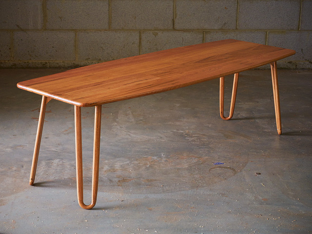 Reclaimed Tasmanian oak floor board coffee table by Saltwood Designs - Coffee Table, Hairpin Legs, Tasmanian Oak