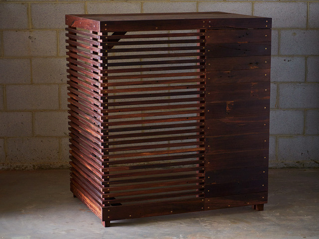 Air conditioner enclosure by Saltwood Designs - Enclosure, Recycled, Air Conditioning, Jarrah