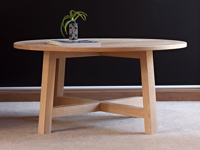 'Durer' Coffee Table by Relm Furniture - Oak, Round, Table, Coffee, Timber, Solid, Scandinavian, Modern, Bespoke