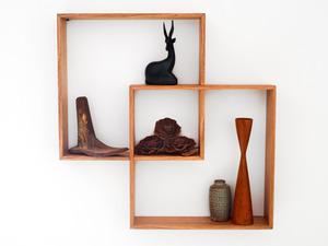 2 BOX SHADOW BOX / SHELF  by Senkki Furniture - Shelf, Shadow Box, Shelves, Shelving, Retro, Mid Century, Wall Art, Storage, Display Cabinet, Display Unit