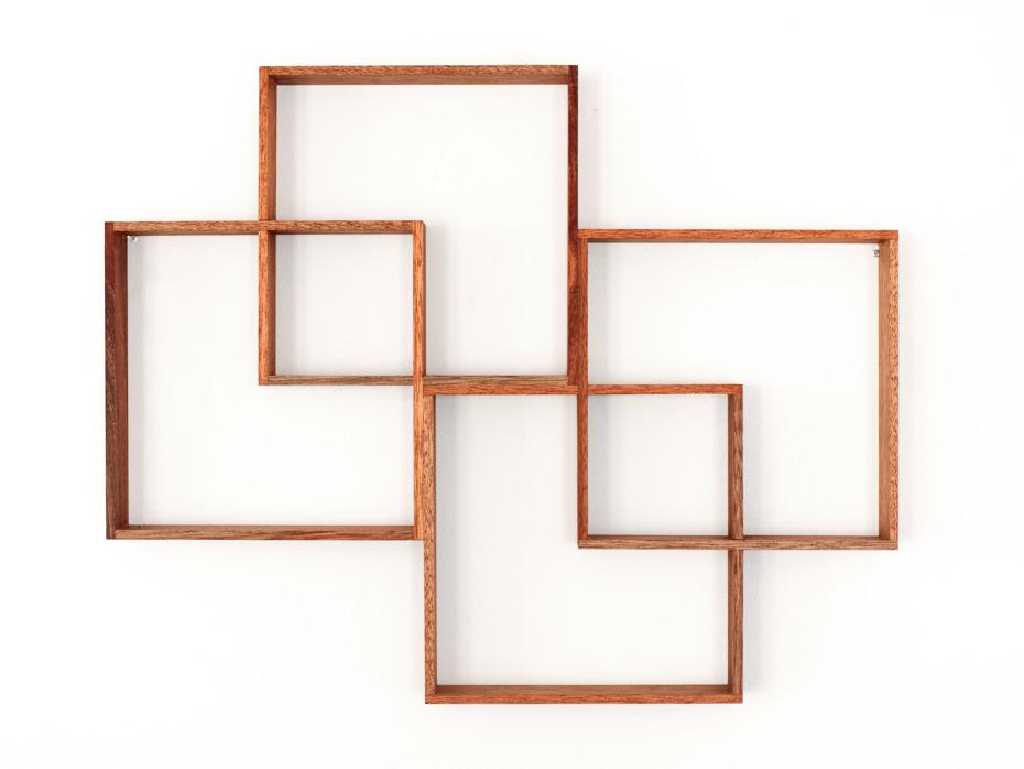 4 box shadow box shelf display cabinet by senkki. Black Bedroom Furniture Sets. Home Design Ideas