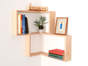 CORNER SHELF: DISPLAY UNIT BOOK CASE SHADOW BOX by Senkki Furniture - Corner Shelf, Shelf, Shelving, Shelves, Shadow Box, Diplay Unit, Wall Art, Retro, Modern, Bookcase