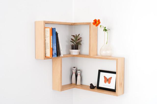 CORNER SHELF: DISPLAY UNIT BOOK CASE SHADOW BOX By Senkki Furniture   Corner  Shelf,
