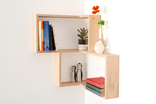 CORNER SHELF: DISPLAY UNIT BOOK CASE SHADOW BOX by Senkki Furniture - Corner Shelf, Shelf, Shelving, Shelves, Shadow Box, Diplay Unit, Wall Art, Retro, Modern, Bookcase