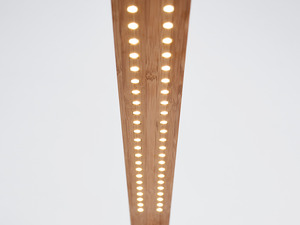 DOM task lamp by B Compact - Bamboo, LED Technology, Alloy, Ply Sheet, Desk Lamp