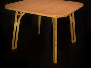 Square Bamboo Dining Table by B Compact - Table, Dining Table, Sustainable Design, Bamboo, Eco Friendly, Beautiful Table