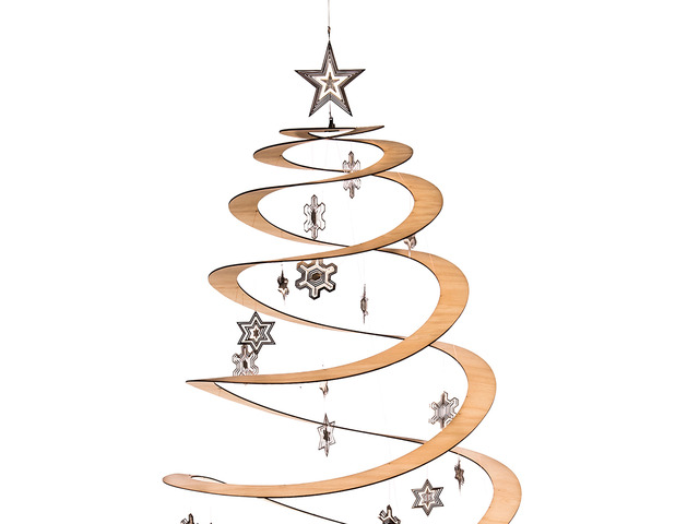 The SPRUNG Christmas Tree by B Compact - Christmas, Xmas, Spiral Ply Wood, Sustainable Product, Conceptual, Designer Decor, Christmas Decoration, Xmas Tree, Bcompact, Designer Tree