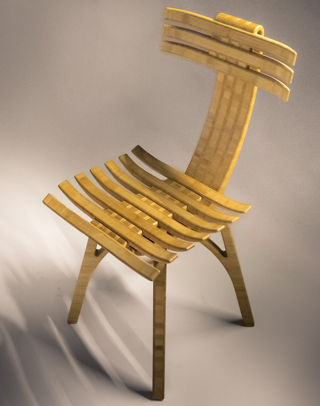 Skeletal Bamboo Chair by B Compact - Sustainable Bamboo, Organically Shaped Chair, Unusual Chair, Skeletal Shape, Designer Furniture, Eco Friendly