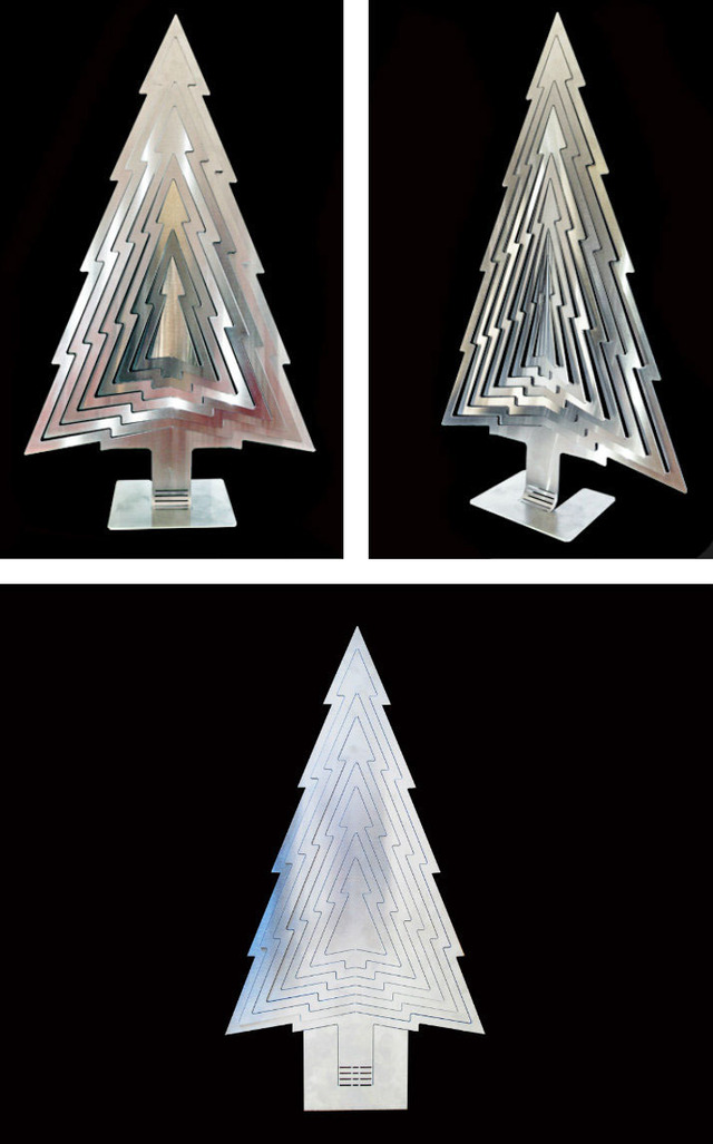 3D Christmas Tree by B Compact - Christmas, Xmas, Decor, Art, Stainless Steel, Design