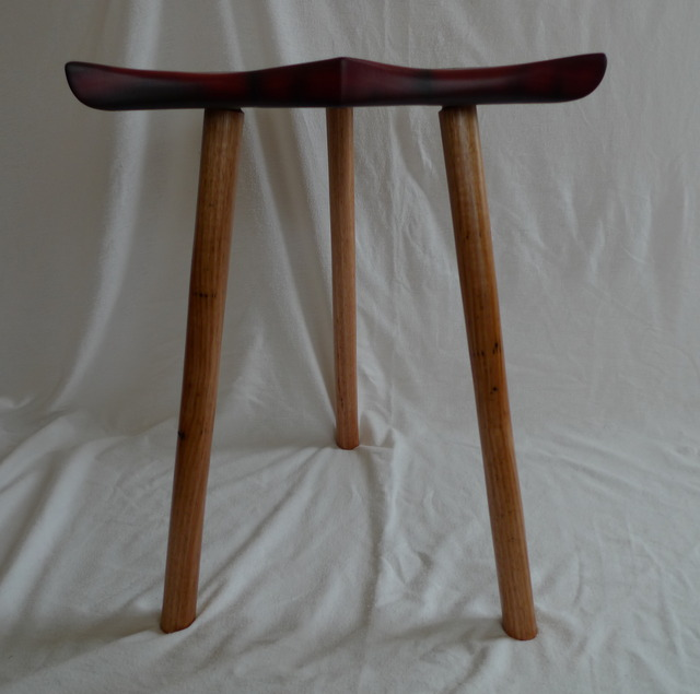 Carved Timber Stool by Sarah Carrucan - Stools
