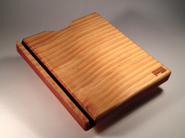 iPad 3 case with built in stand by Pierre Greenway - Bespoke, Handmade, Pine, Jarrah, Upcycled, IPad, Western Australia