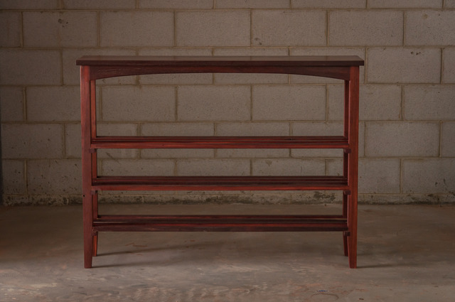Hall table shoee rack by Saltwood Designs - Recycled, Jarrah, Shoe Rack, Hall Table