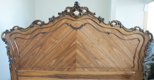 French Provincial Bed by Rupert Eachells - Bed, Walnut