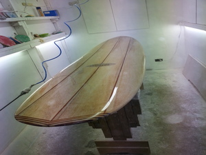 Solid Classic Balsa Malibu by Riley Classic Balsawood Surfboards - Balsa, Wood, Surfboard, Hand Made, Aussie Made, Environmentally Friendly, Eco